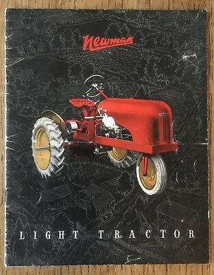 Collectable Vintage 1940s Newman Light Tractor Sales Brochure - Rare Catalogue