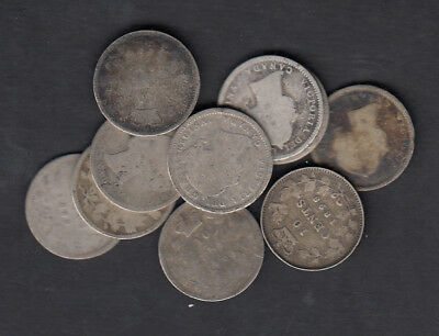 1858-1901 Canada 10 Cents Silver Coin Lot Of 10