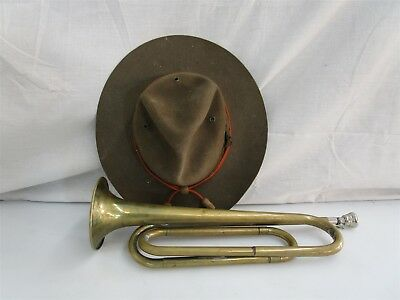 Vintage Boy Scouts of America Lot Bugle Hat Rexcraft