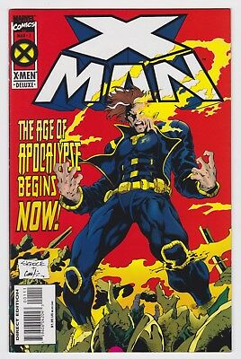 X Man #1 The Age Of Apocalypse Begins Now Marvel Deluxe Comic Book Mar 1995 Nm