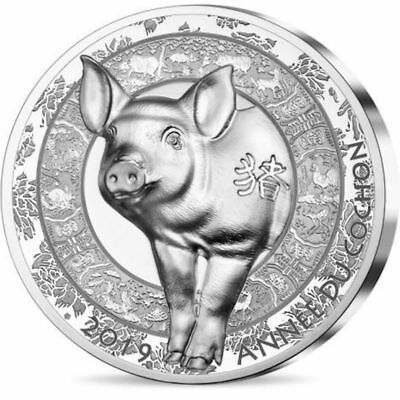 2019 France € 20 Euro 1 oz High Relief Silver Proof Coin Lunar Year of the Pig