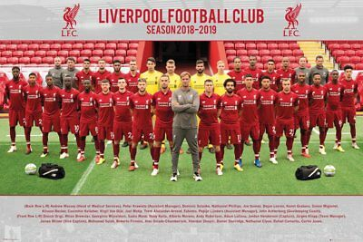 Fc Liverpool - The Reds - Soccer Poster (Team Photo - 2018 / 2019)