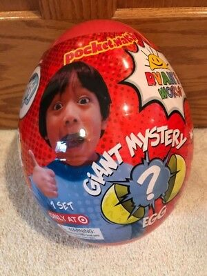 NEW! Ryan's World Giant Mystery Egg Surprise Slime Toy Review RED EGG NEW!!!!!!!
