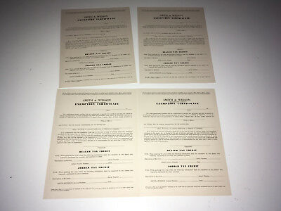 SMITH & WESSON 1960s Dealer Jobber Exemption Certificate Advertising