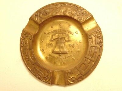 vintage 1926 Sesqui Centennial souvenir ashtray with Liberty Bell (1776-1926)