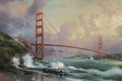 Golden Gate Bridge, San Francisco -- Art Card -- Thomas Kinkade Dealer Postcard