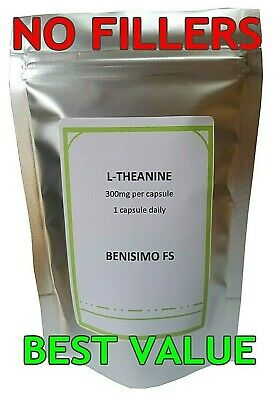 L-Theanine 300mg Veg Capsules-High Strength-Multi Listing-Stress,Learning,Focus