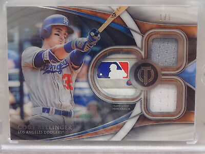 2018 Topps Tribute Cody Bellinger Los Angeles Dodgers MLB Logo Patch #1/1