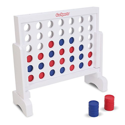 Connect 4 Indoor Outdoor Games Yard Four Lawn Wooden Game Travel Case Strategy