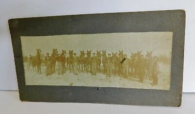 Civil War Photo Military Infantry Soldiers with Horses Panoramic Antique RARE