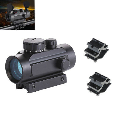 High Accuracy 1x30 Red Dot Sight Scope w/ Flashlight Barrel Ring Airsoft Mount