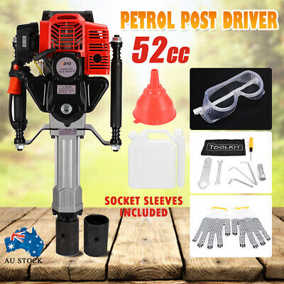 PDTO Petrol Post Driver 52cc 2 Stroke Pile Picket Star Rammer Farm Fence Fencing