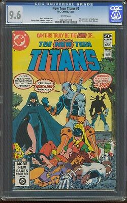 THE NEW TEEN TITANS # 2 1st Appearance DEATHSTROKE the TERMINATOR 1980 CGC-9.6