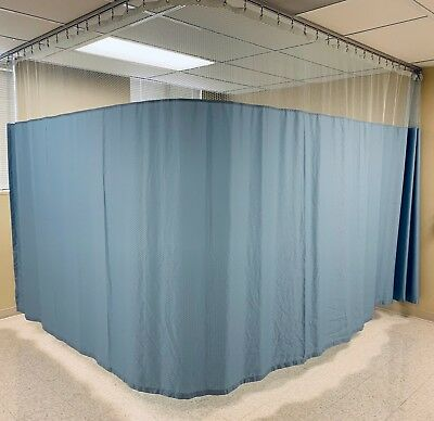 Hospital Patient PRIVACY Curtain Bluemoon 22ft x 8ft Antibacterial Antimicrobial
