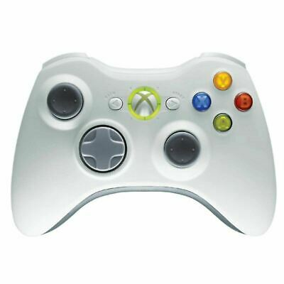 GENUINE Microsoft XBox 360 WHITE Wireless Controller gamepad OFFICIAL gaming -B-