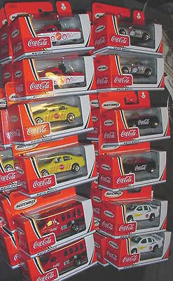 WHOLESALE LOT 24 COKE COCA COLA MATCHBOX CARS mattel  chevy mustang police boat
