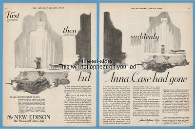 1920 Edison Phonograph Carnegie Hall Anna Case Had Gone With A Soul Ad