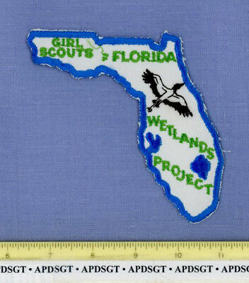 FLORIDA DNR GIRL SCOUTS WETLANDS PROJECT Police Patch STATE SHAPE NATURAL RESOUR