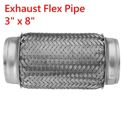 3x8 Inch Flex Pipe Exhaust Stainless Steel Double Braid Coupling Tube Flexibilit