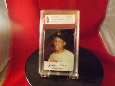 $700 Willie Mays Vintage Player Blank Bac Card Graded Gem Mint 10 Free Shipping