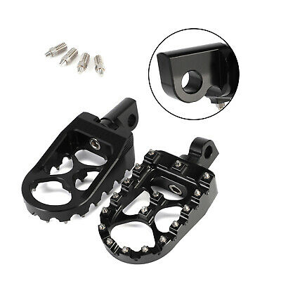 For Harley Davidson Dyna Iron 883 Fatboy Bobber Wide Foot Pegs MX Style Black 2x