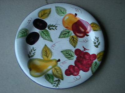 Oneida Vintage Fruit DINNER PLATE Hand Painted Made in China