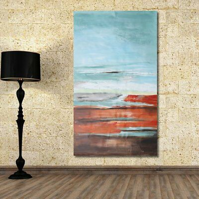 120x60cm Abstract Seaside Canvas Oil Painting Hand-painted Home Wall Art Decor