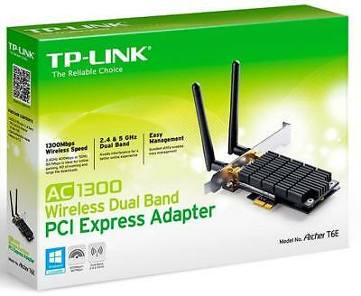 TP-Link Archer T6E AC1300 Wireless Dual Band PCI Express Adapter 1300Mbps 5GHz (