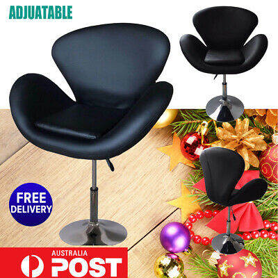 New Salon Barber Stool Massage Hairdressing Chair Swivel Hydraulic Lift PU Black