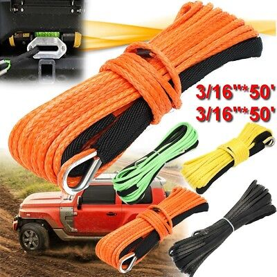 4 Types Winch Line Synthetic Winch Rope Cable With Thimble 4500/5500/7000lbs