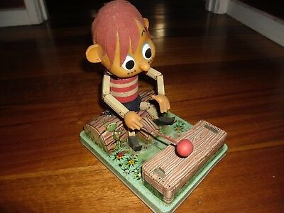 The New Adventures of Pinocchio TV Rosco Battery Operated 1960'S Japan Tin Toy