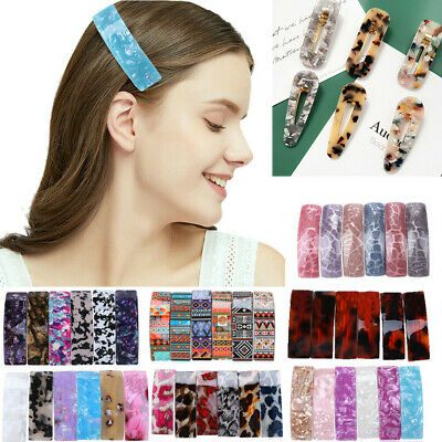 Vintage Women Girls Snap Slide Hair Grip Hair Clips Barrette Hair Accessories