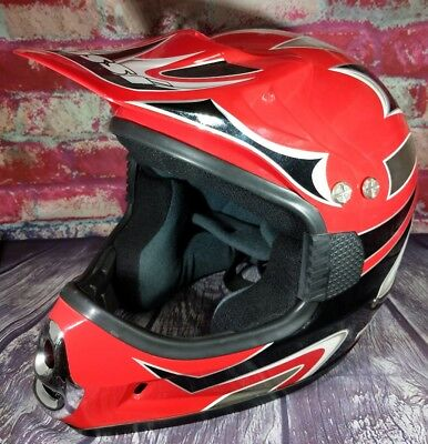 MOSSI MX-1 A625 Moto Motorcycle Helmet Adult Mens Medium Dirt Bike BMX ATV Cross