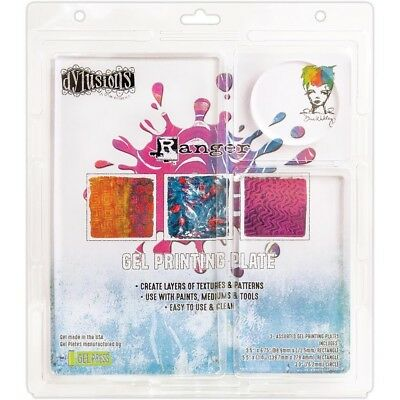 Raner Dylusions Gel Press Plates 3 Pack assorted sizes