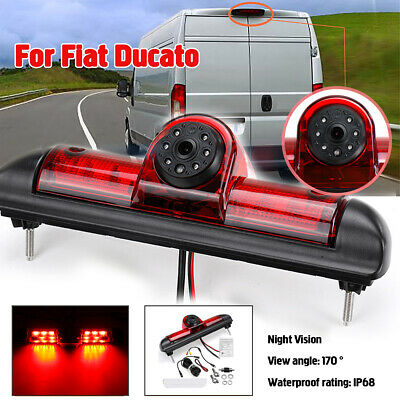 12V Rear View Reversing Backup Camera Brake Light Night Vision For Fiat Ducato