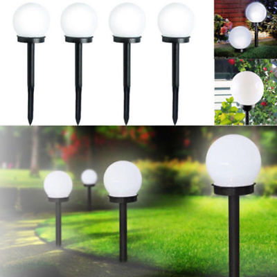 2 PCS LED Solar Power Outdoor Garden Path Yard Ball Light Lamp Lawn Road Patio