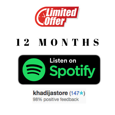 ⭐SALE⭐ spotify Premium 12 months-NOT- SHARED 🔥 change-Info available  🔥