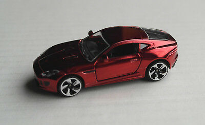 Majorette Jaguar F-Type rotchrom Sportwagen Sports Car Auto PKW red chrome rouge