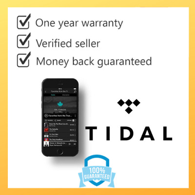 Tidal Premium 12 Months {  NOT SHARED } - Instant Delivery- Legit-Limited