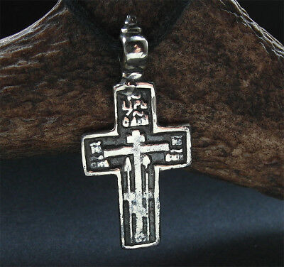 SUPERB POST MEDIEVAL BRONZE CROSS PENDANT - wearable