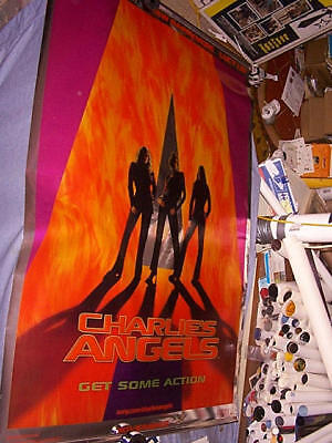 """2000 CHARLIE'S ANGELS Advance Theater Banner 48 X 72"""""""