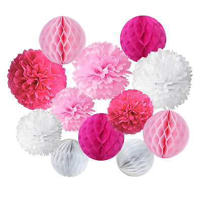 Recosis Paper Pompoms and Honeycomb Balls for Birthday Party Wedding Baby...