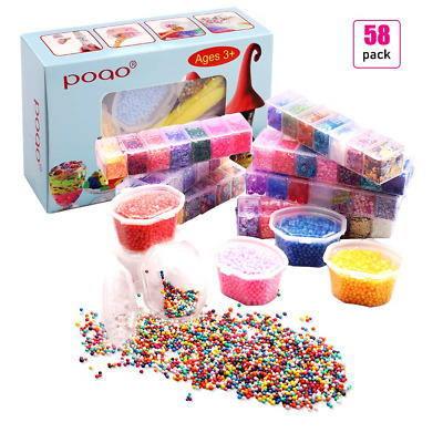 Slime Supplies Kit, 58 Pack Beads Charms Include Foam Balls, Fishbowl Beads,...
