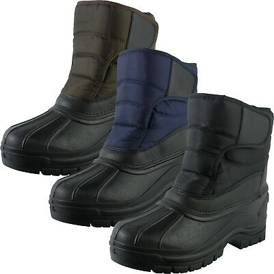 Snow Warm Grip Mucker Boots Winter Thermal Welly Wellington Shoes Waterproof