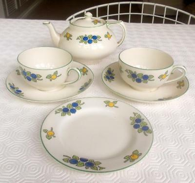 Vintage Crown Ducal Tea For Two Set Lemons And Plums A975