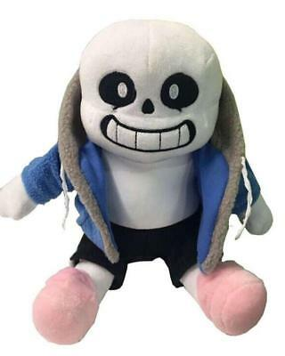 Undertale Sans Plush Stuffed Doll 10'' Hugger Cushion Cosplay Doll Gifts Toy New