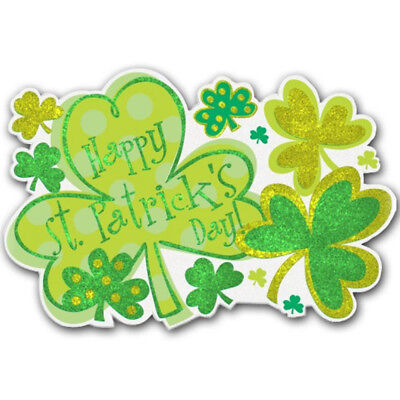 St Patricks Day Party Hanging Glitter Wall Door Sign Decoration