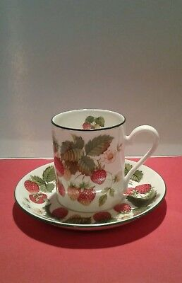 Roy kirkham small Strawberry cup and saucer
