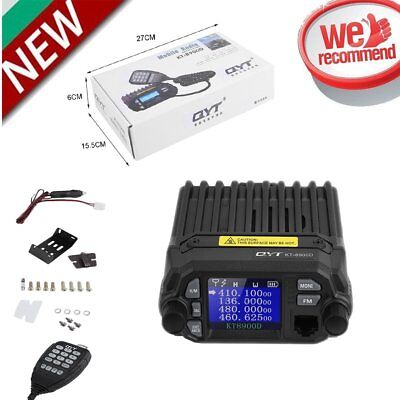 KT-8900D VHF UHF FM Car Mobile Radio Transceiver Dual Band 5 tone 25W Output OT
