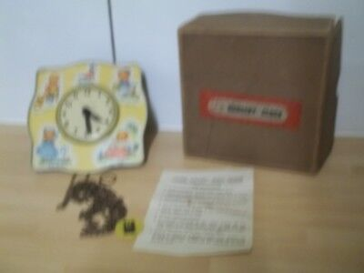 vintage chad valley nursery clock missing pendulum